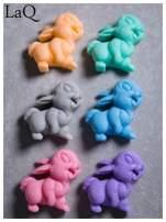 LaQ Mydełko Uśmiechnięty królik - niebieski / Zapach - wata cukrowa BEZ SLS i SLES                                  zdj.                                  3