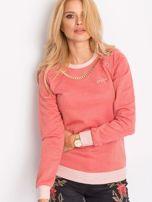 Łososiowa bluza z łańcuszkiem z wycięciami                                  zdj.                                  1