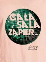 Łososiowy t-shirt damski CAŁA SALA by Markus P                                  zdj.                                  2