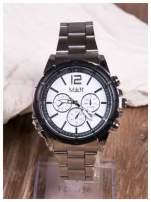 M&H -Klasyka i elegancja srebrny męski zegarek na bransolecie                                   zdj.                                  1