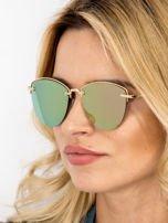 MANNINA Okulary przeciwsłoneczne lustrzanki + miękkie etui gratis                                  zdj.                                  1