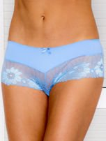 Majtki szorty damskie z koronką 2-pak różowo-niebieskie                                  zdj.                                  2