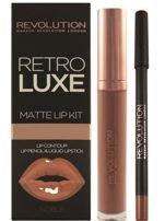Makeup Revolution Retro Luxe Gloss Lip Kit Zestaw do ust konturówka 1g + matowa pomadka w płynie 5,5ml Noble                                  zdj.                                  1