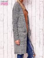 Melanżowy długi sweter z kieszeniami                                  zdj.                                  3