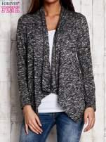 Melanżowy sweter z dłuższymi połami ciemnoszary                                  zdj.                                  1