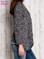 Melanżowy sweter z dłuższymi połami ciemnoszary                                  zdj.                                  3