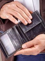 Męski portfel czarny ze skóry                                  zdj.                                  8