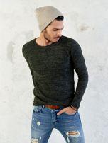 Męski sweter khaki                                  zdj.                                  2