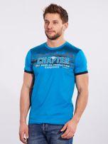 Męski t-shirt bawełniany jasnoniebieski                                  zdj.                                  3