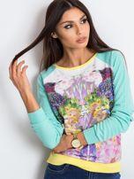 Miętowa bluza Paradise                                  zdj.                                  5