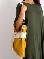 Musztardowo-beżowa torba ze skóry ekologicznej                                  zdj.                                  5