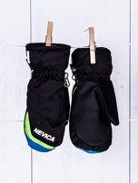 NEVICA Ocieplane wodoodporne dziecięce rękawiczki narciarskie czarne                                  zdj.                                  2