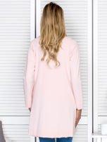 Narzutka damska z wiązaniem różowa                                  zdj.                                  2