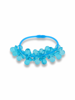 Niebieska Bransoletka z zawieszkami w kształcie smoczków - baby shower                                  zdj.                                  1