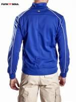 Niebieska bluza męska z kieszeniami na suwak Funk n Soul                                  zdj.                                  6