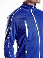 Niebieska bluza męska z kieszeniami na suwak Funk n Soul                                  zdj.                                  7