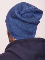 Niebieska czapka męska beanie                                   zdj.                                  3
