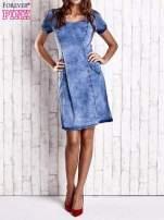 Niebieska denimowa sukienka z wycięciami na plecach                                  zdj.                                  8