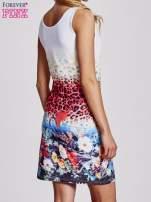 Niebieska dopasowana sukienka z motywem pantery                                  zdj.                                  2