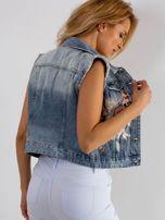 Niebieska jeansowa kamizelka Dancefloor                                  zdj.                                  2