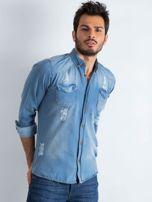 Niebieska koszula męska Jeanswear                                  zdj.                                  1