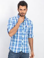 Niebieska koszula męska Jimmy                                  zdj.                                  1