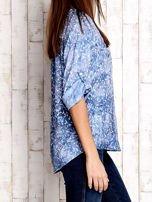 Niebieska koszula z kwiatowym motywem                                                                          zdj.                                                                         1