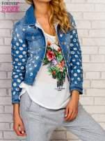 Niebieska kurtka jeansowa z koronką                                  zdj.                                  1