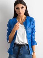 Niebieska kurtka z falbanami                                  zdj.                                  1