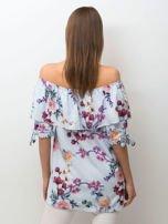 Niebieska kwiatowa bluzka hiszpanka                                  zdj.                                  2
