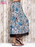 Niebieska plisowana spódnica midi z brokatem                                  zdj.                                  3