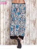 Niebieska plisowana spódnica midi z brokatem                                  zdj.                                  6