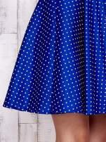 Niebieska rozkloszowana sukienka w groszki                                  zdj.                                  5