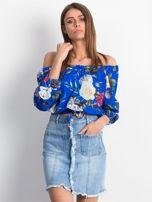 Niebieska spódnica Slitting                                  zdj.                                  5