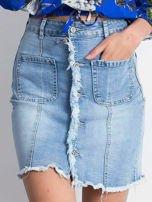 Niebieska spódnica Slitting                                  zdj.                                  1