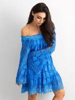 Niebieska sukienka hiszpanka z szerokimi rękawami                                  zdj.                                  3