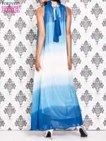 Niebieska sukienka maxi z wiązaniem na plecach                                  zdj.                                  2