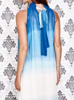 Granatowa sukienka maxi z wiązaniem na plecach                                                                          zdj.                                                                         5