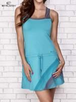 Niebieska sukienka sportowa z szarymi wstawkami                                                                          zdj.                                                                         1
