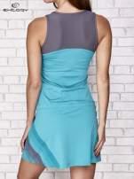 Fuksjowa sukienka sportowa z szarymi wstawkami                                                                          zdj.                                                                         4