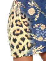 Niebieska sukienka z panterkowym nadrukiem                                  zdj.                                  6