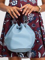 Niebieska torebka z łańcuszkiem                                  zdj.                                  3