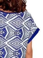 Niebieska tunika w azteckie wzory                                                                          zdj.                                                                         6