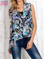 Niebieska warstwowa bluzka koszulowa w kwiaty                                  zdj.                                  1