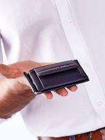Niebieski męski portfel skórzany z zewnętrzną kieszenią                                  zdj.                                  2