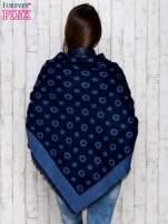 Niebieski szal w kwiaty                                  zdj.                                  4