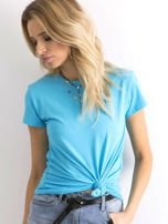 Niebieski t-shirt Peachy                                  zdj.                                  1