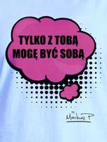 Niebieski t-shirt damski Z TOBĄ MOGĘ BYĆ SOBĄ by Markus P                                  zdj.                                  2