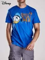 Niebieski t-shirt męski KACZOR DONALD                                                                          zdj.                                                                         4