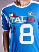 Niebieski t-shirt męski z napisem ITALIA Funk n Soul                                                                          zdj.                                                                         7